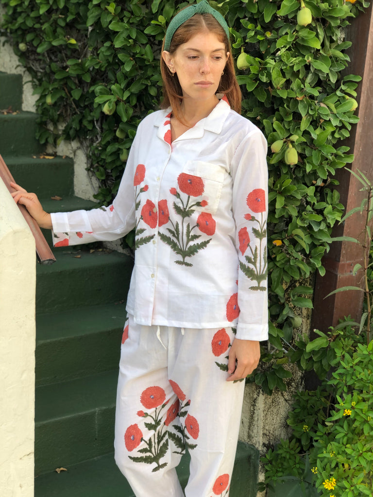 Orange Poppy Palm Beach Pajamas - The Kemble Shop