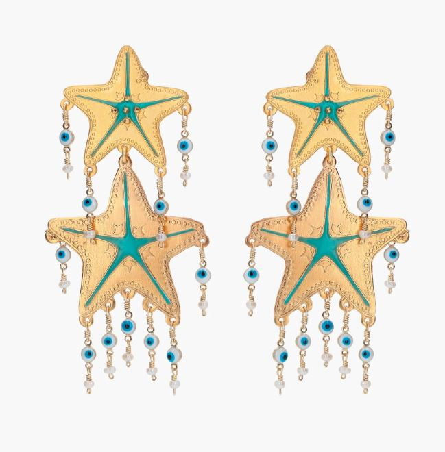 Golden Starfish with Nazar Charms - The Kemble Shop