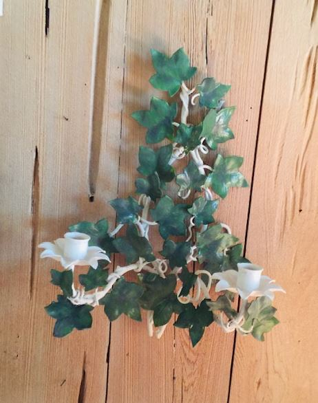 Pair of Ivy Leaf Wall Sconces - The Kemble Shop