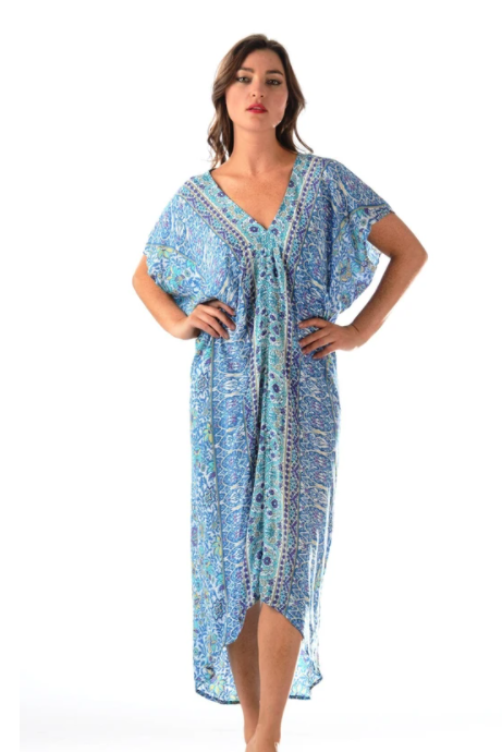 Blue Violet Santorini Kaftan - The Kemble Shop