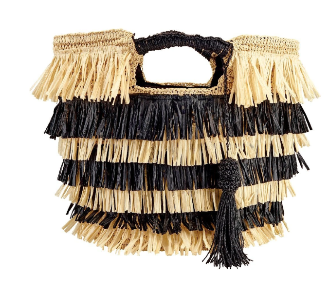 Crochet Paper Tote with Fringe - The Kemble Shop