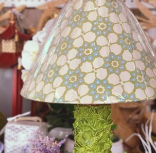 Blue & Green Floral Lampshade - The Kemble Shop