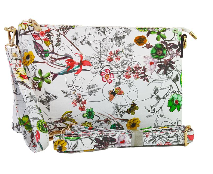 Floral Large Clutch - The Kemble Shop