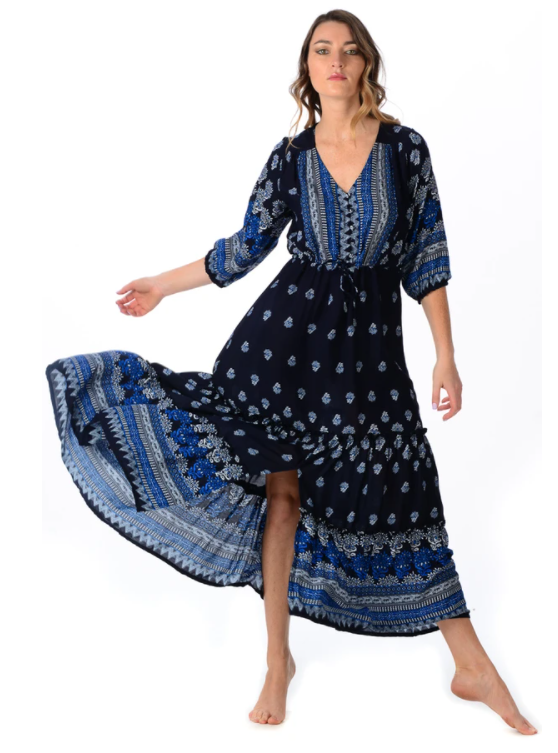 Midnight Carrie Dress - Walker & Wade - The Kemble Shop