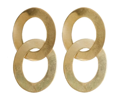 Hoop Linked Drop Earrings - The Kemble Shop