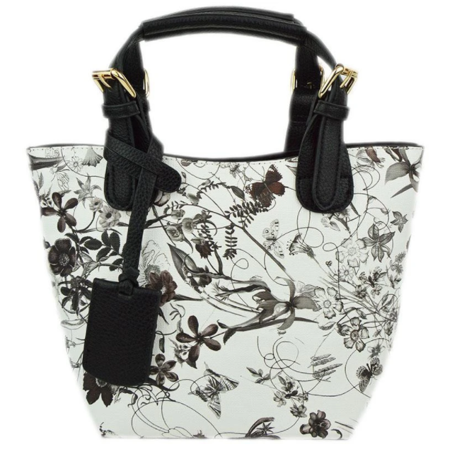 Baby Bucket Floral Black Tote - The Kemble Shop