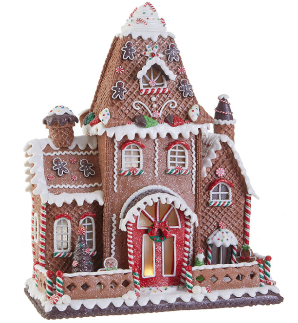 "16.5"" Lighted Gingerbread House - The Kemble Shop"