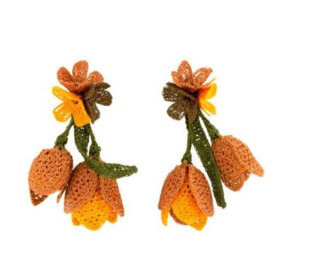 Orange Tulip Earrings - The Kemble Shop
