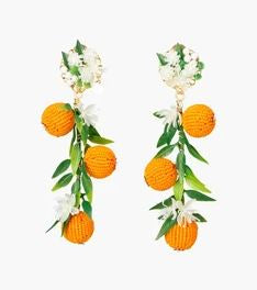 Fiesta Orange Earrings - The Kemble Shop