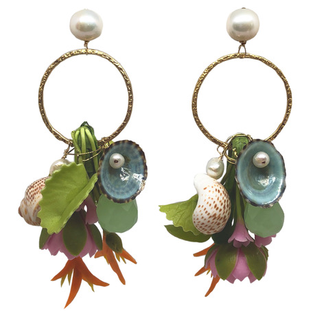 Paradise Lotus Pearl Dangle- by Meg Carter - The Kemble Shop