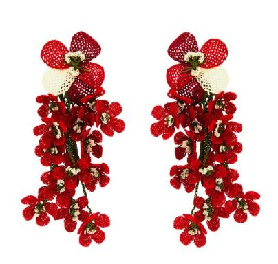Red Poppy Earrings - The Kemble Shop