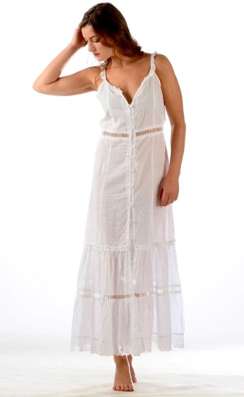 White Midsummer Dress - Walker & Wade - The Kemble Shop