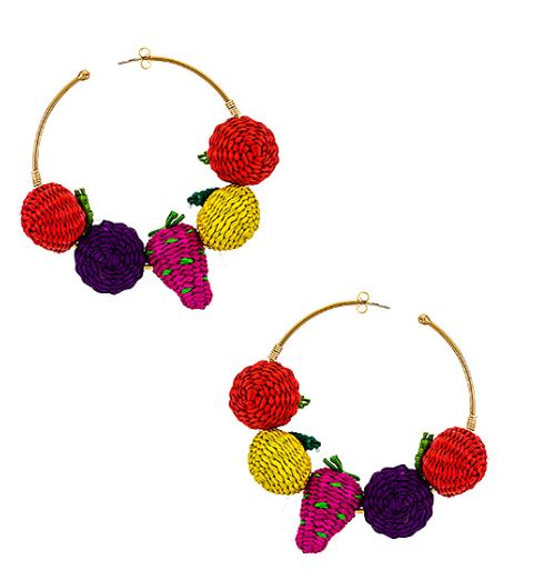 Fruity Hoop Earrings - The Kemble Shop