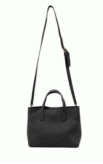 Black Medium Half Tote - The Kemble Shop