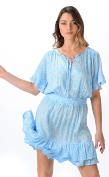 Sky Blue Courtney Dress - Walker & Wade - The Kemble Shop