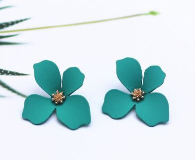 Turquoise Floral Earrings - The Kemble Shop