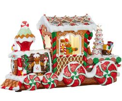 "Lighted Gingerbread Train Engine - 17"" - The Kemble Shop"
