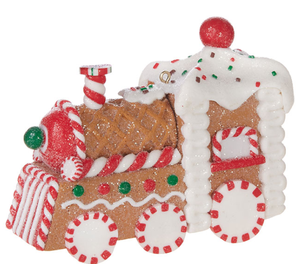 "Gingerbread Train Ornament - 4.5"" - The Kemble Shop"