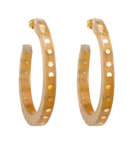 Vega Hoop Earrings - Natural - The Kemble Shop