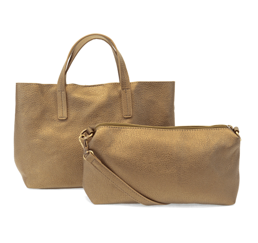 Metallic Bronze Medium Half Tote - The Kemble Shop