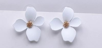 White Floral Earrings - The Kemble Shop