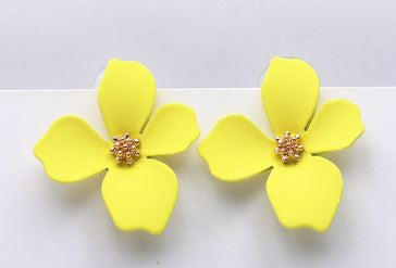 Yellow Floral Earrings - The Kemble Shop