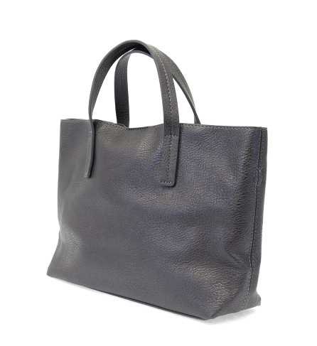 Metallic Navy Medium Half Tote - The Kemble Shop