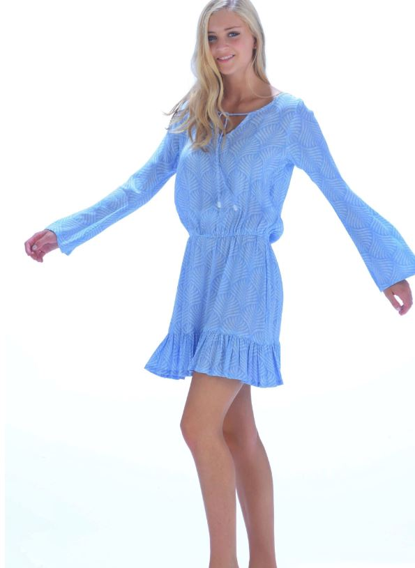 Periwinkle Za Dress - Walker & Wade - The Kemble Shop