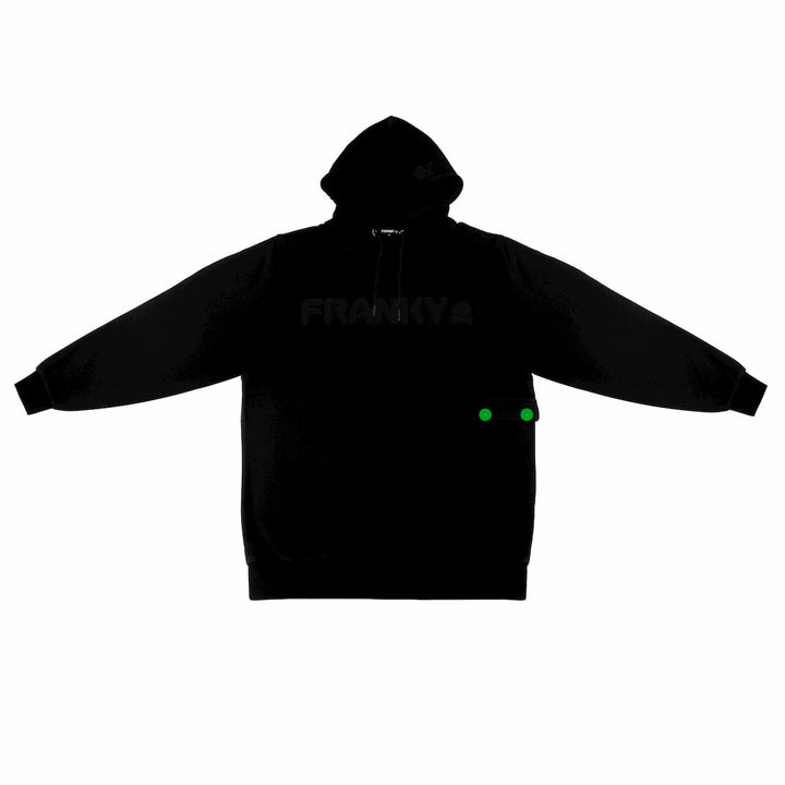 Hoodie with FRANKY Logo black