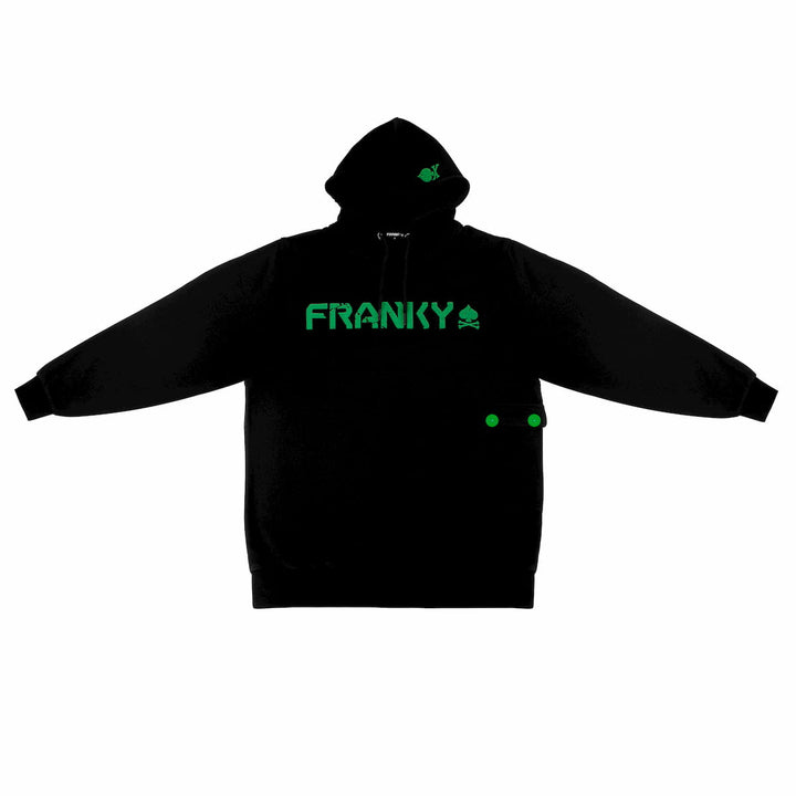 Hoodie with FRANKY Logo green