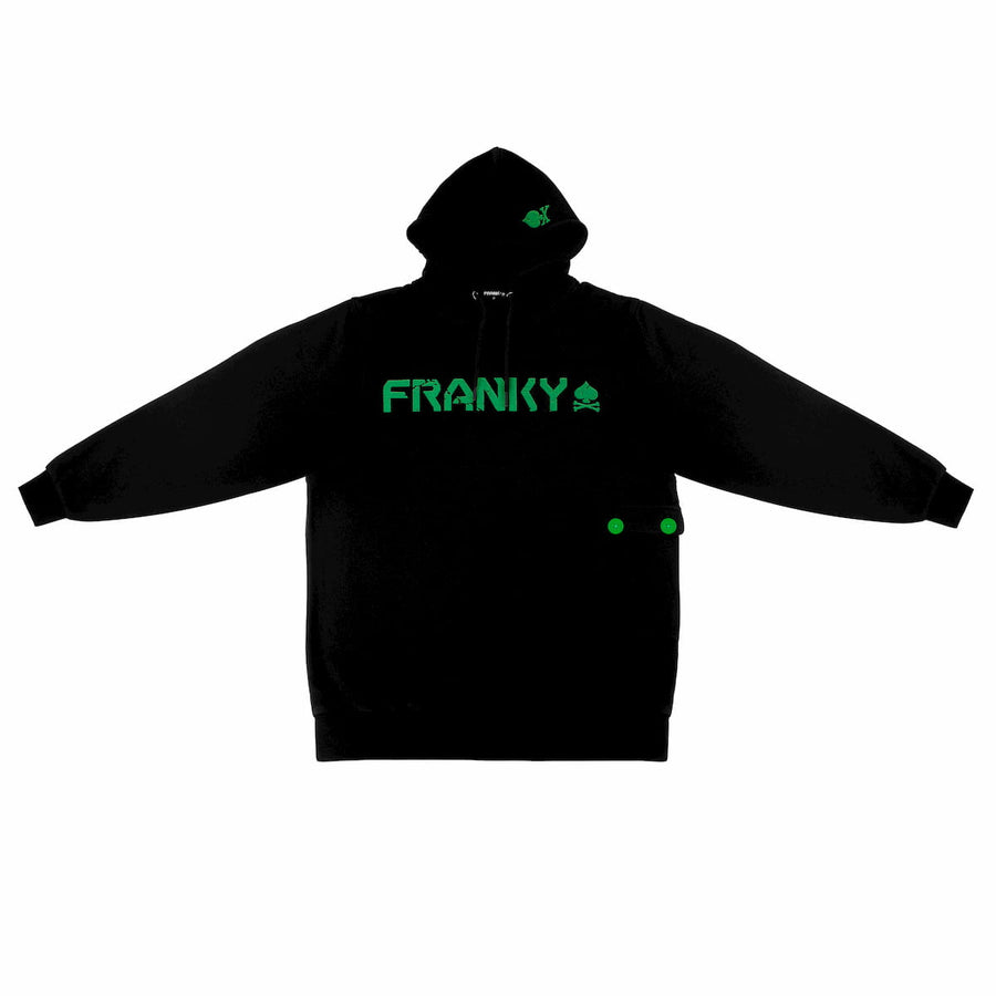 Hoody with FRANKY Logo green