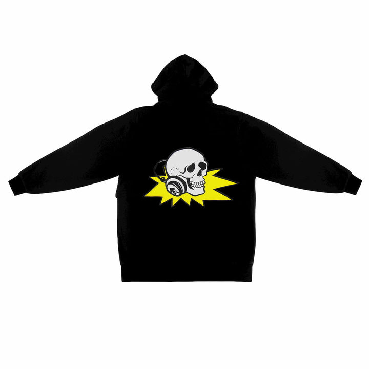 Hoodie with DJ Skull on back