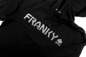 Hoodie with FRANKY Logo in silver