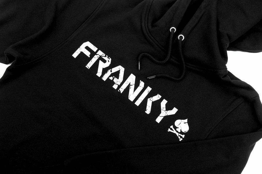 Hoody with FRANKY Logo white