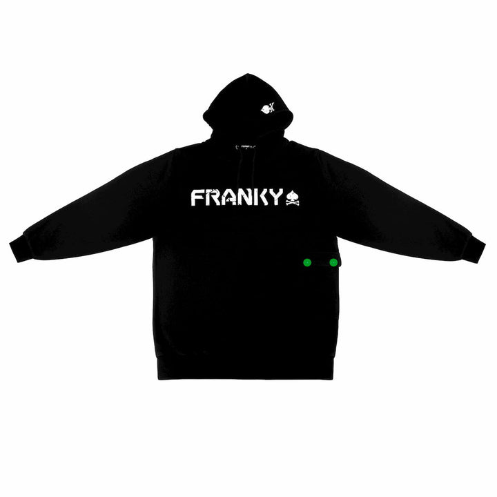 Hoodie with FRANKY Logo white
