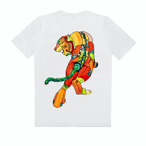 T-Shirt with Robot Tiger on back