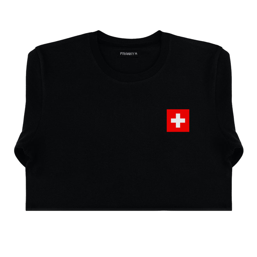 T-Shirt long arm Swiss Skateboard National Team