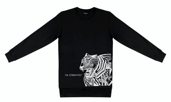 T-Shirt long arm with Tiger