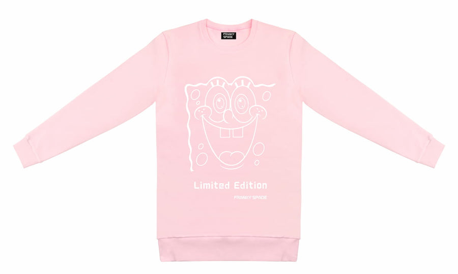 "T-Shirt long arm SpongeBob ""Limited Edition"" babypink"