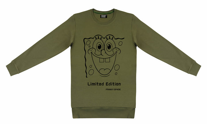 "T-Shirt long arm SpongeBob ""Limited Edition"" military"