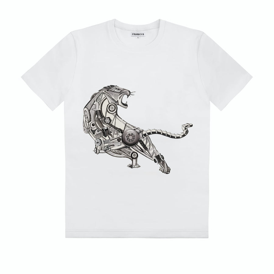 T-Shirt with Robot Tiger