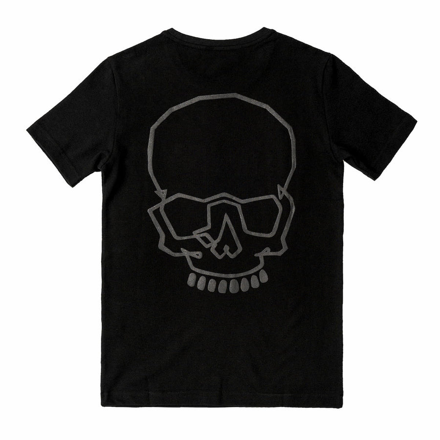 T-Shirt with Skull on Back