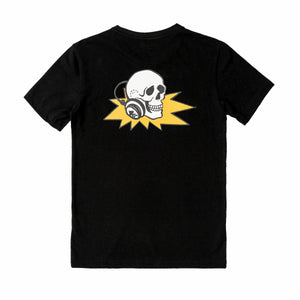T-shirt with Logo and DJ Skull