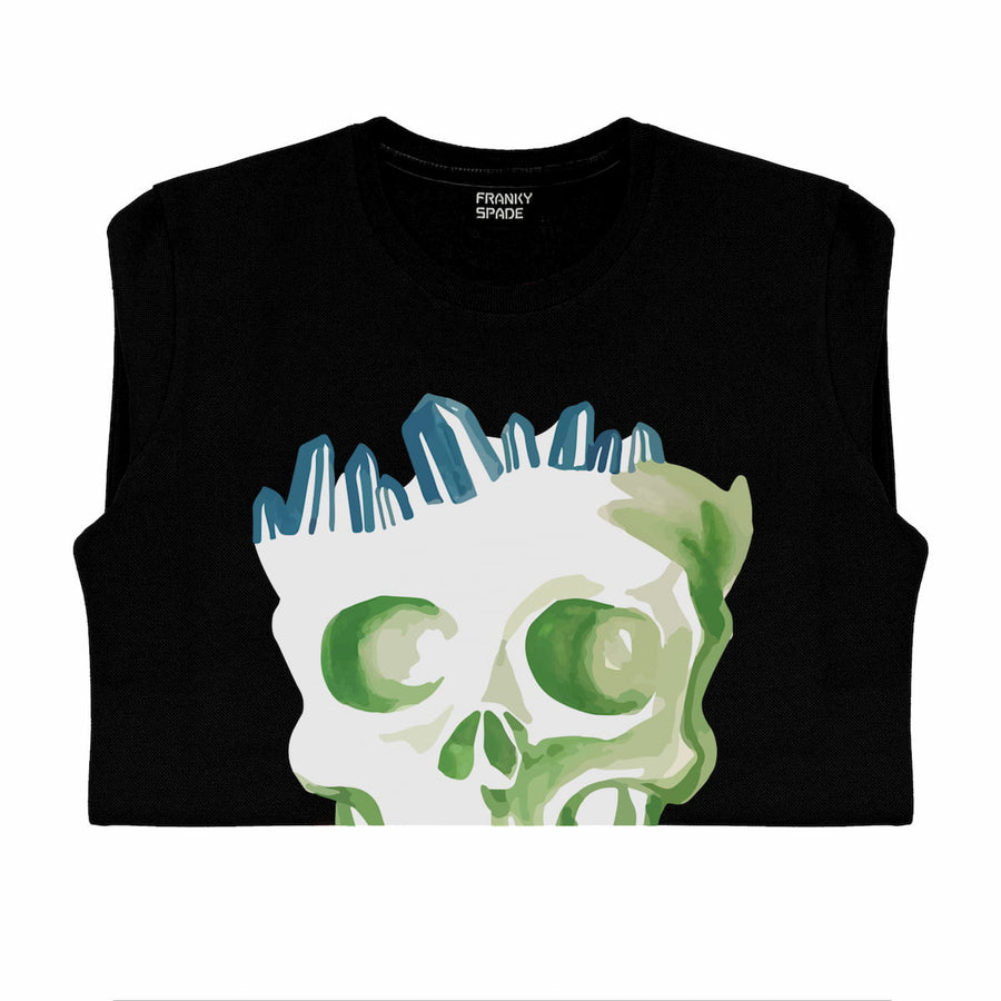 T-Shirt long arm with Skull SKC1