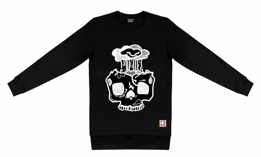 T-Shirt long arm with Skull SKS12