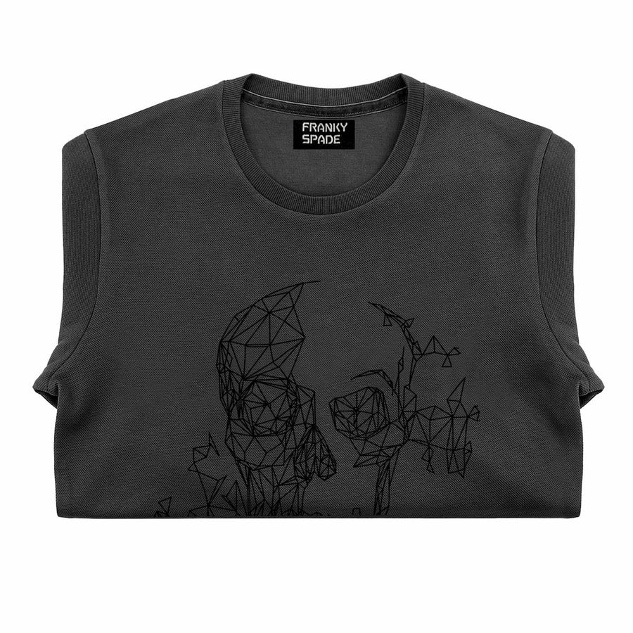 T-Shirt long arm with Skull SKS17