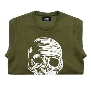T-Shirt long arm with Skull SKS11