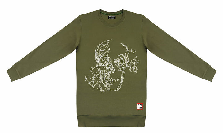 T-Shirt long arm with Scull SKS17