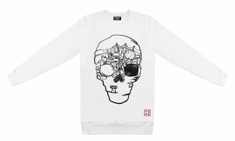T-Shirt long arm with Skull SKS16