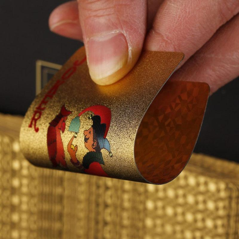 24k Gold Foil Playing Cards - with Genuinity Certificate - Orelio Store